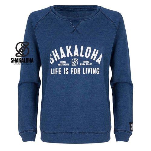 Shakaloha W Crew ArcWht Indigo