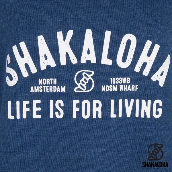 Shakaloha Women's Sweater Crew Blue - Organic Cotton with Shakaloha print