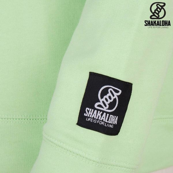 Shakaloha Damen Sweater Escaper Lime - Bio-Baumwolle mit Shakaloha-Print