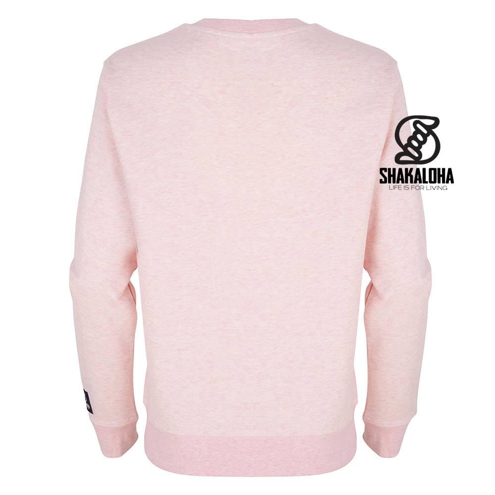 Shakaloha Pull Femme Hider Rose - Coton Bio avec imprimé Shakaloha