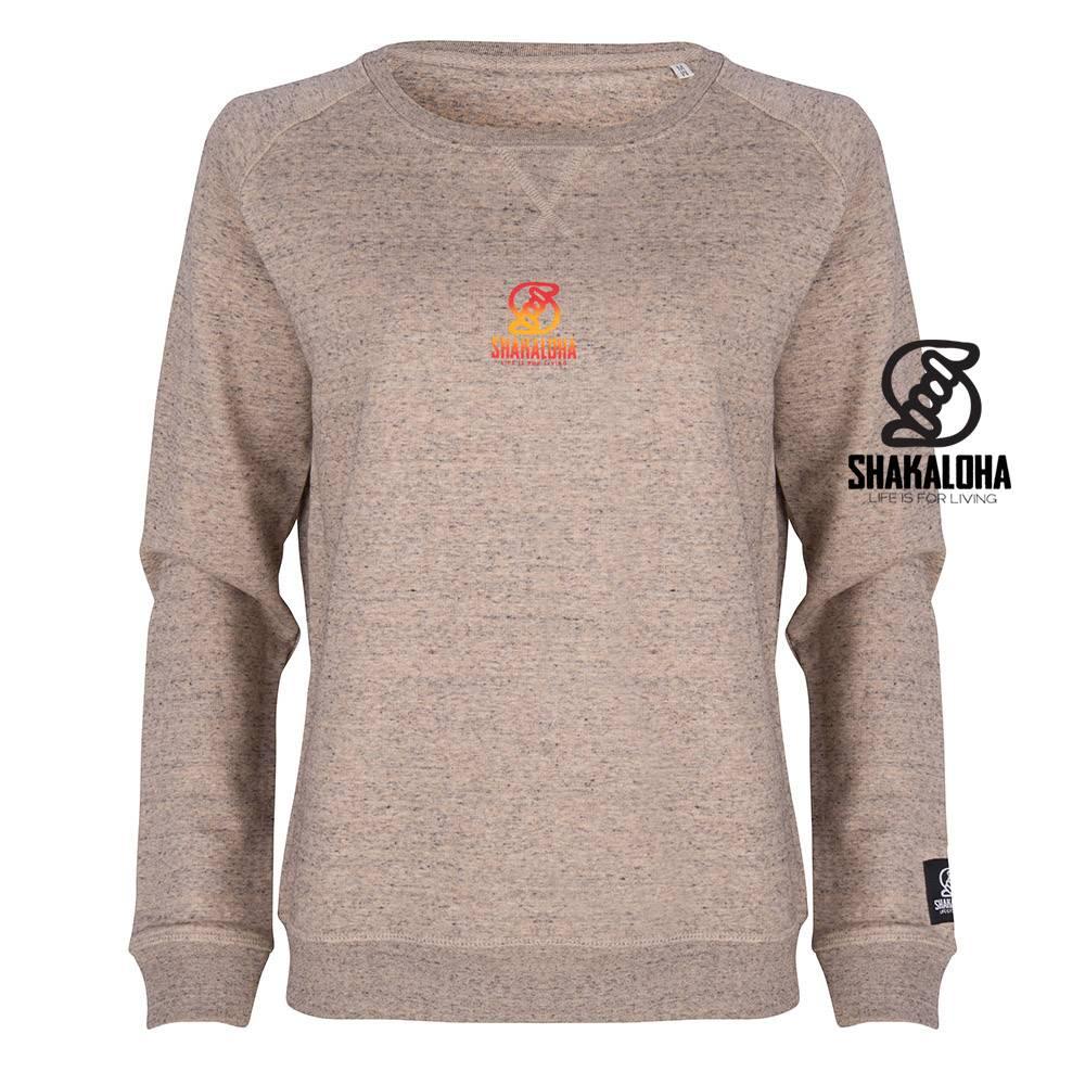 Shakaloha Damen Sweater Tripper Clay - Bio-Baumwolle mit Shakaloha-Aufdruck