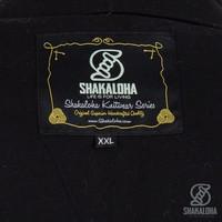 Shakaloha Shakaloha Gebreid Wollen Vest Sierra Antraciet Blauw met Katoenen Voering en Hoge Kraag - Man/Uni - Handgemaakt in Nepal van Schapenwol