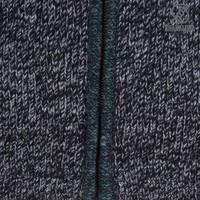Shakaloha Shakaloha Veste en Laine Tricoté Sierra Vert anthracite avec Doublure en coton et Col haut - Hommes - Uni - Fabriqué à la main au Népal en laine de mouton