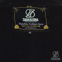 Shakaloha Shakaloha Gebreid Wollen Vest Sierra Antraciet Groen met Katoenen Voering en Hoge Kraag - Man/Uni - Handgemaakt in Nepal van Schapenwol