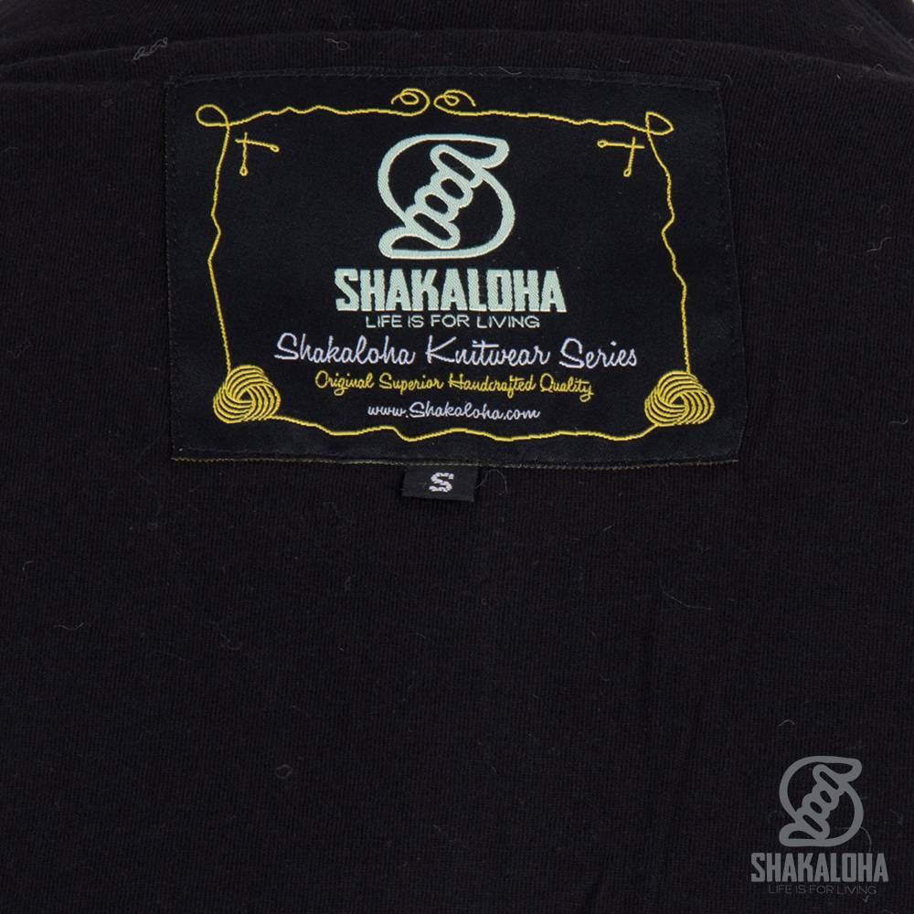 Shakaloha Shakaloha Wolljacke - Strickjacke Sierra Anthrazitgrün mit Baumwollfutter und hohem Kragen - Herren - Uni - Handgemacht in Nepal aus Schafwolle