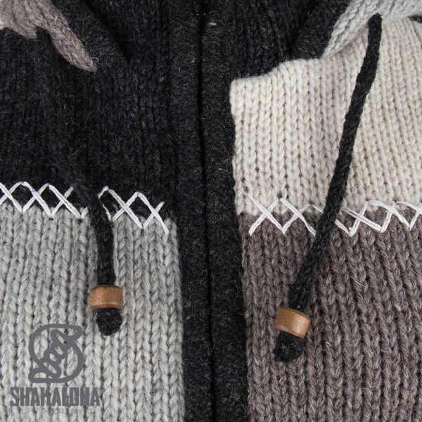 Shakaloha Natural patchwork fleece-lined wool jacket for women