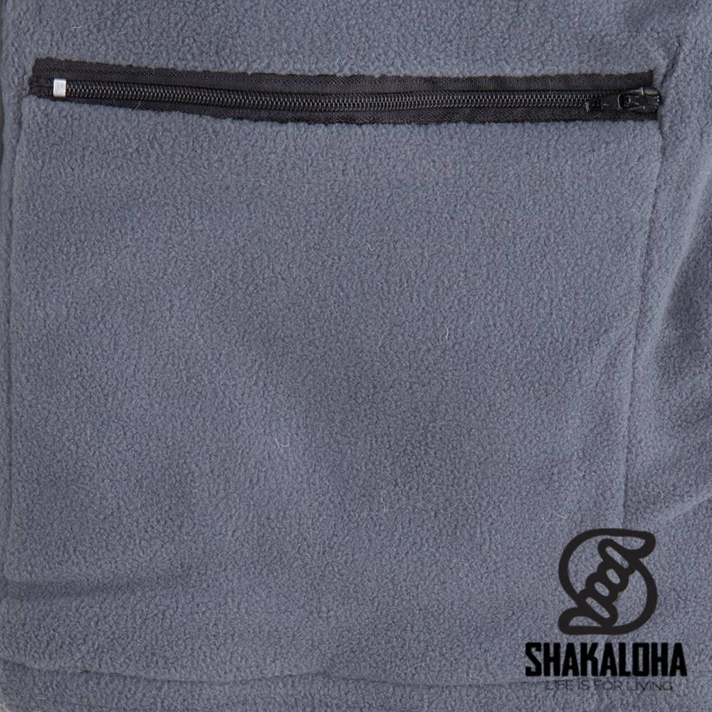 Shakaloha Shakaloha Gebreid Wollen Vest Patch NH Natuurkleuren met Fleece Voering en Capuchon met Binnenkraag - Dames - Handgemaakt in Nepal van Schapenwol