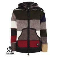 Shakaloha M Zito ZH DarkMulti Wool Jacket with fleece lining