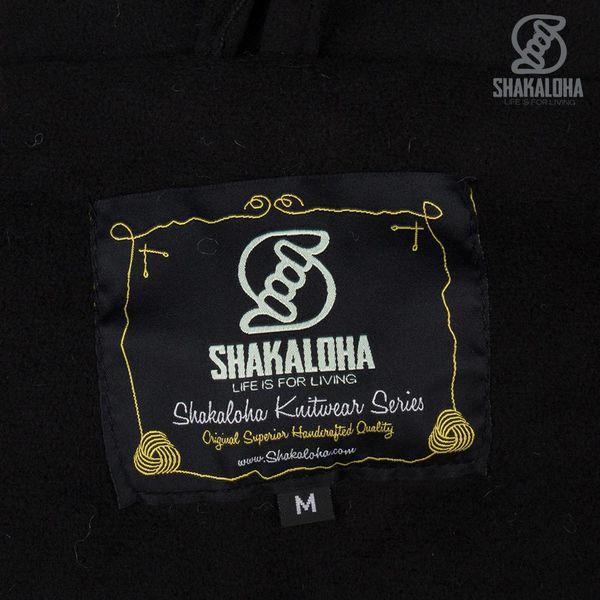 Shakaloha Shakaloha Veste en Laine Tricoté Woodcord Ziphood Anthracite avec Doublure en polaire et Capuche détachable - Femmes - Fabriqué à la main au Népal en laine de mouton