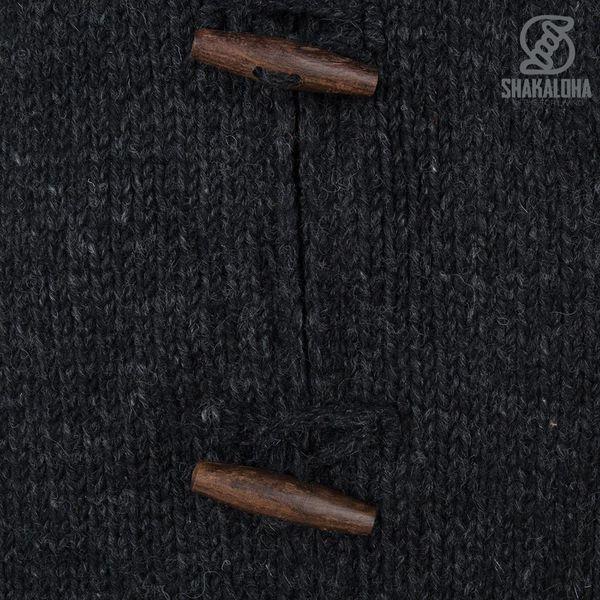 Shakaloha Damen Longstrickjacke Woodcord Anthrazit
