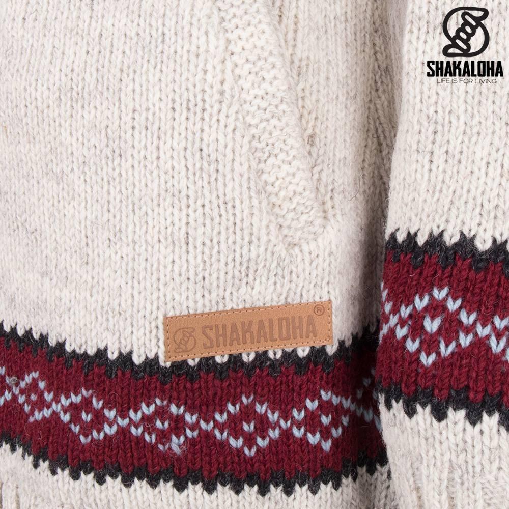 Shakaloha Shakaloha Gebreid Wollen Vest Spring  met Fleece Voering en Capuchon - Dames - Handgemaakt in Nepal van Schapenwol