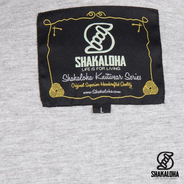 Shakaloha Shakaloha Gebreid Wollen Vest Spring Grijs met Fleece Voering en Capuchon - Dames - Handgemaakt in Nepal van Schapenwol
