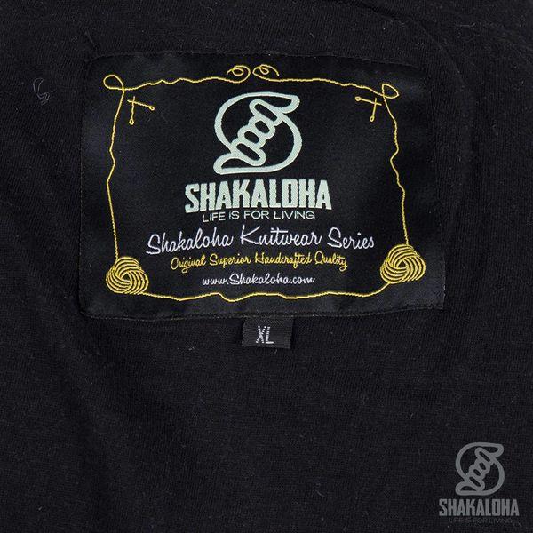 Shakaloha Shakaloha Wolljacke - Strickjacke Rosco ZH Anthrazit mit Baumwollfutter und Abnehmbarer Kapuze - Herren - Uni - Handgemacht in Nepal aus Schafwolle