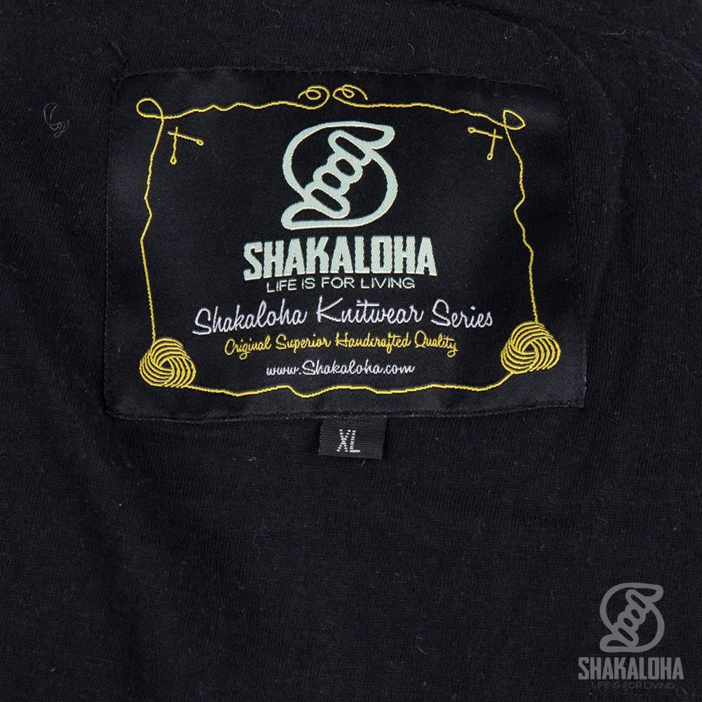 Shakaloha Shakaloha Veste en Laine Tricoté Rosco ZH Anthracite avec Doublure en coton et Capuche détachable - Hommes - Uni - Fabriqué à la main au Népal en laine de mouton