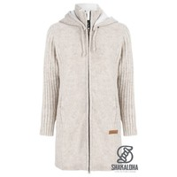 Shakaloha W Supermodel ZH Beige  Long ladies cardigan with cotton lining