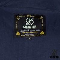Shakaloha Shakaloha Wolljacke - Strickjacke Baseball ZH Marineblau Blau mit Baumwollfutter und Abnehmbarer Kapuze - Herren - Uni - Handgemacht in Nepal aus Schafwolle