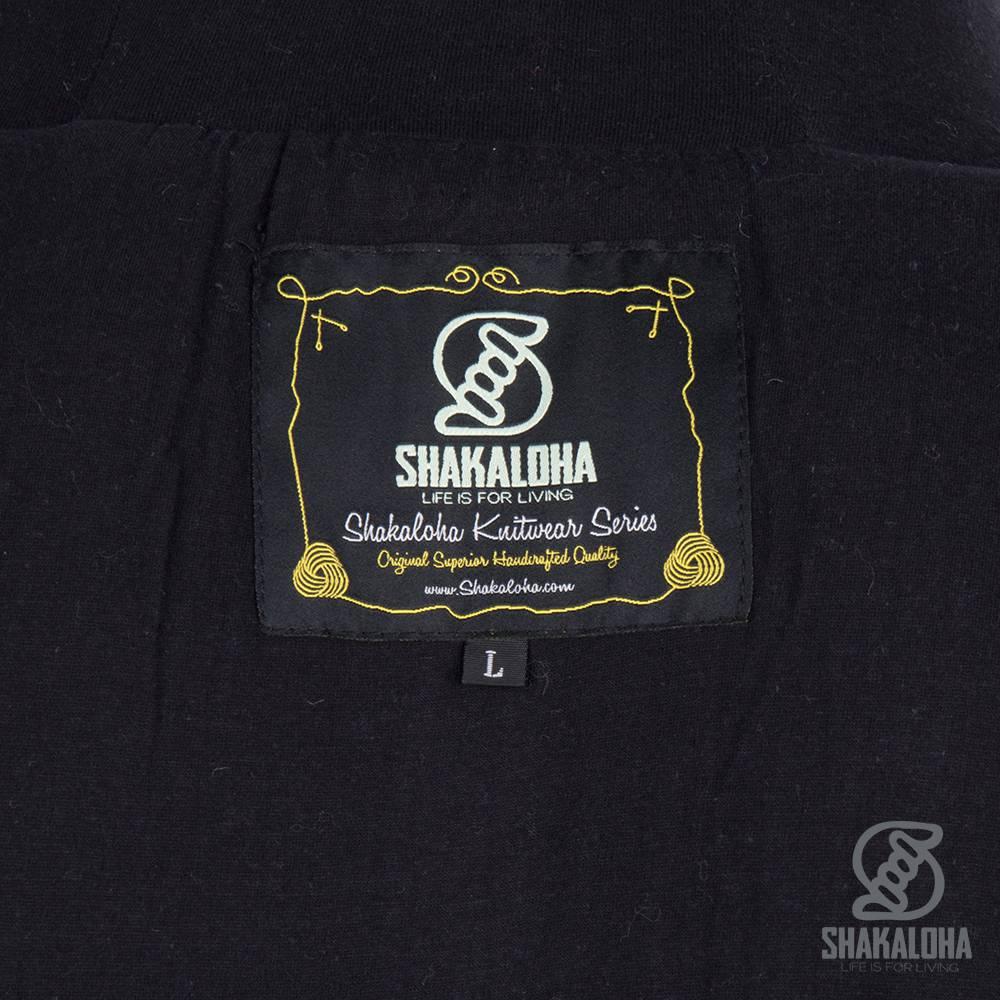 Shakaloha Shakaloha Gebreid Wollen Vest Bohemian Antraciet Grijs met Katoenen Voering en Capuchon - Man/Uni - Handgemaakt in Nepal van Schapenwol