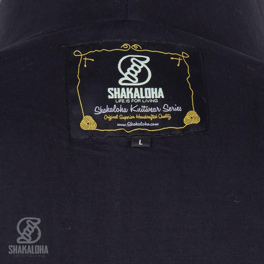 Shakaloha Shakaloha Veste en Laine Tricoté Boulder Gris antracite avec Doublure en coton et Capuche - Hommes - Uni - Fabriqué à la main au Népal en laine de mouton