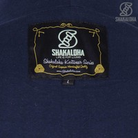 Shakaloha Shakaloha Gebreid Wollen Vest Boulder Navy Blue met Katoenen Voering en Capuchon - Man/Uni - Handgemaakt in Nepal van Schapenwol