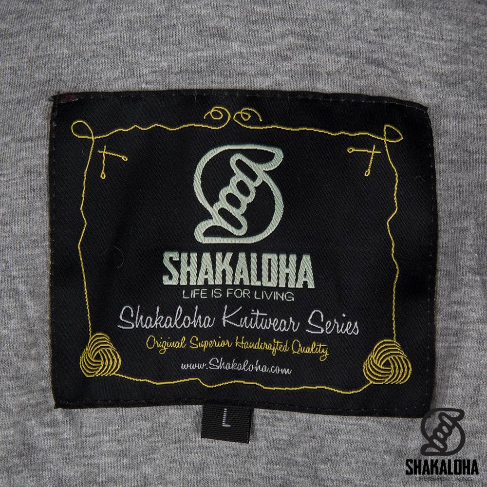 Shakaloha Shakaloha Gebreid Wollen Vest Rosco ZH Grijs met Katoenen Voering en Afneembare Capuchon - Man/Uni - Handgemaakt in Nepal van Schapenwol