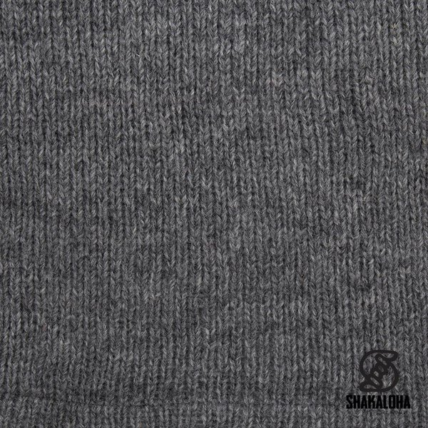 Shakaloha Shakaloha Wolljacke - Strickjacke Rosco ZH Grau mit Baumwollfutter und Abnehmbarer Kapuze - Herren - Uni - Handgemacht in Nepal aus Schafwolle