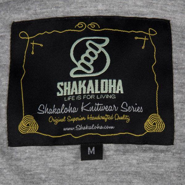 Shakaloha Shakaloha Veste en Laine Tricoté Supermodel ZH gris avec Doublure en coton et Capuche détachable - Femmes - Fabriqué à la main au Népal en laine de mouton