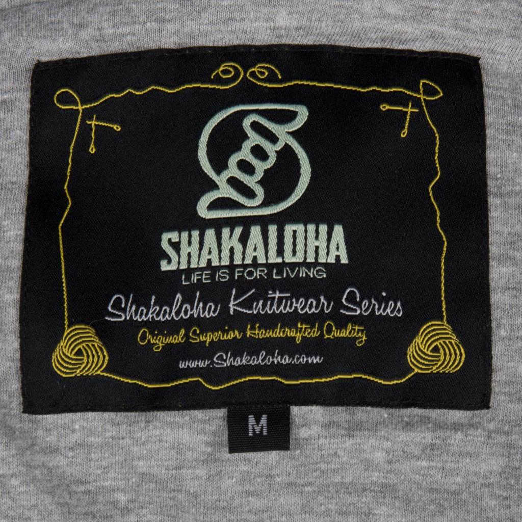 Shakaloha Shakaloha Wolljacke - Strickjacke Supermodel ZH Grau mit Baumwollfutter und Abnehmbarer Kapuze - Damen - Handgemacht in Nepal aus Schafwolle