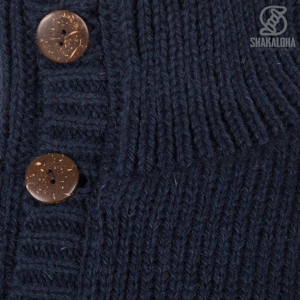 Shakaloha M Polaris Navy Fleece gefütterter Pullover