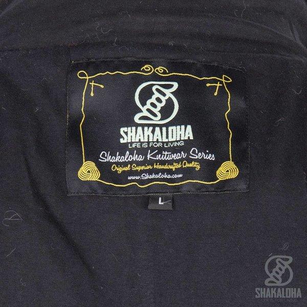 Shakaloha Shakaloha Wollen Vest Baseball ZH Antracite met Katoenen Voering en Afneembare Capuchon - Man/Uni