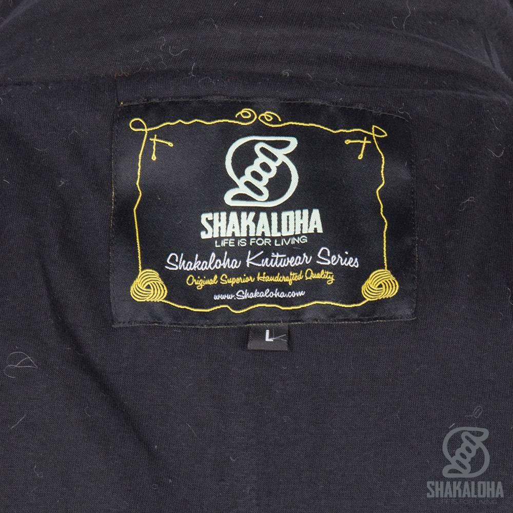 Shakaloha Shakaloha Gebreid Wollen Vest Baseball ZH Antraciet met Katoenen Voering en Afneembare Capuchon - Man/Uni - Handgemaakt in Nepal van Schapenwol