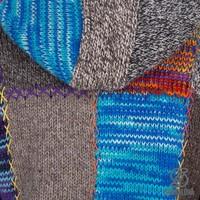 Shakaloha Shakaloha Veste en Laine Tricoté Longpatch Multicolore mixte avec Doublure en polaire et Capuche - Femmes - Fabriqué à la main au Népal en laine de mouton