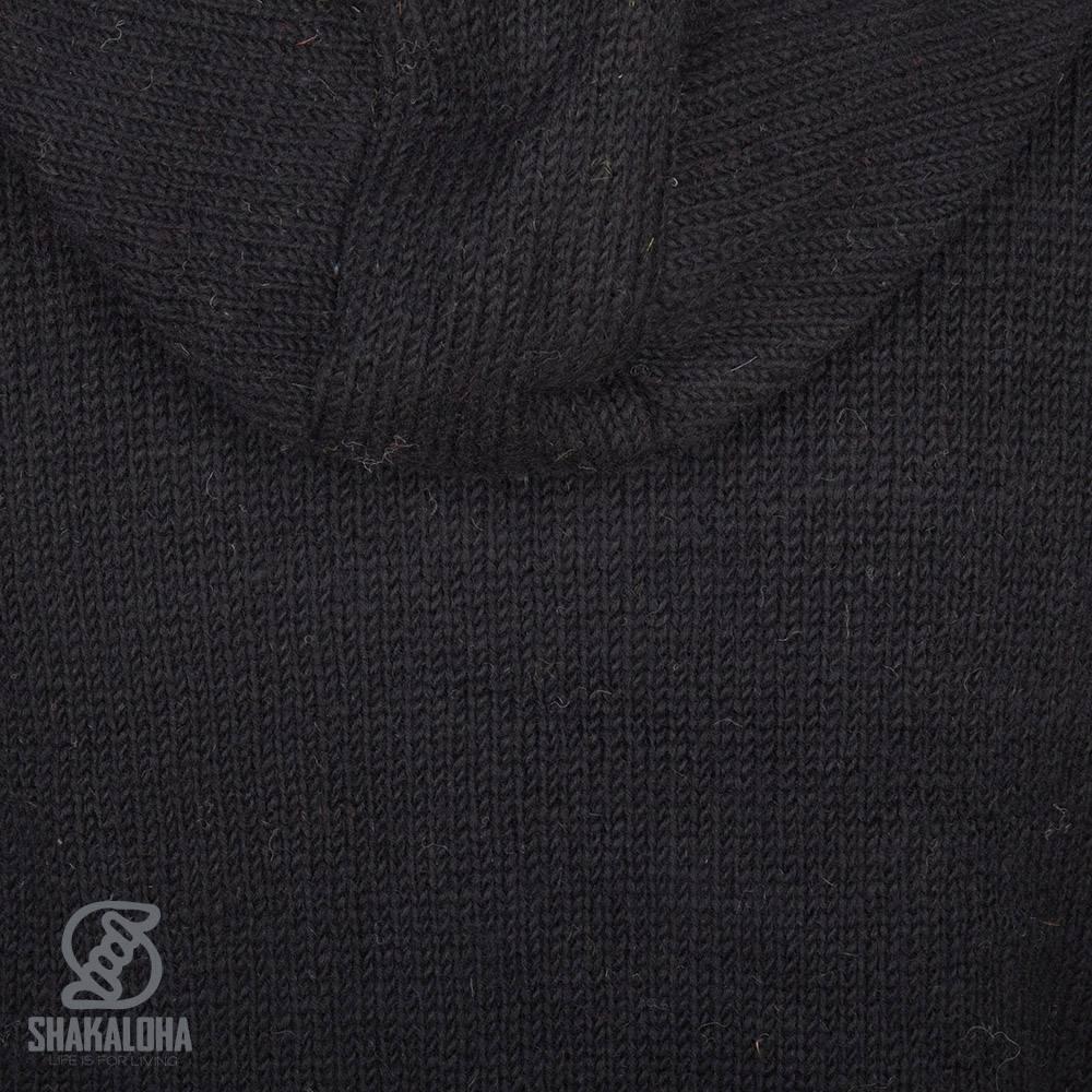 Shakaloha Shakaloha Gebreid Wollen Vest Pager  met Fleece Voering en Capuchon - Dames - Handgemaakt in Nepal van Schapenwol