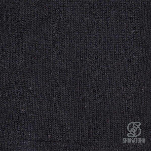 Shakaloha Shakaloha Gestrickter Wollwesten-Pager mit Fleecefutter und Kapuze - Damen - Handgefertigt in Nepal aus Schafwolle