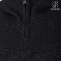 Shakaloha Shakaloha Knitted Wool Vest Pager with Fleece Lining and Hood - Ladies - Handmade in Nepal from Sheep Wool