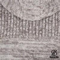 Shakaloha Shakaloha Veste en Laine Tricoté Kauai Beige Marron clair avec Coupe-vent en nylon et Capuche - Hommes - Uni - Fabriqué à la main au Népal en laine de mouton