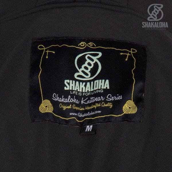 Shakaloha Shakaloha Gebreid Wollen Vest Kauai  met Nylon Windstopper en Capuchon - Man/Uni - Handgemaakt in Nepal van Schapenwol