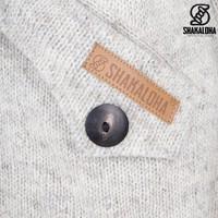 Shakaloha Shakaloha Knitted Woolen Jacket Linder  with Cotton Lining and Hood - Woman - Handmade in Nepal from sheep's wool