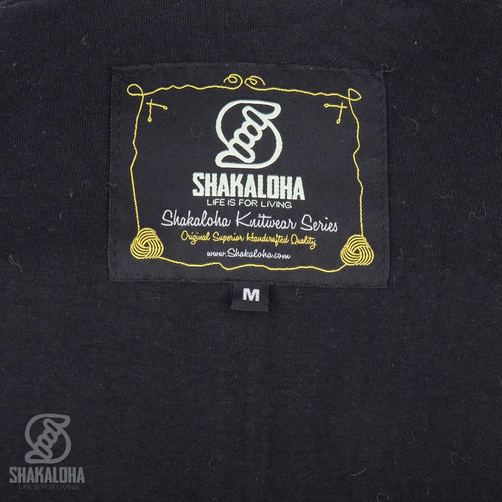 Shakaloha Shakaloha Wolljacke - Strickjacke Linder Anthrazit mit Baumwollfutter und Kapuze - Damen - Handgemacht in Nepal aus Schafwolle