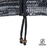 Shakaloha Shakaloha Wolljacke - Strickjacke Talbot ZH Anthrazit Hellbraun mit Fleece-Futter und Abnehmbarer Kapuze - Herren - Uni - Handgemacht in Nepal aus Schafwolle