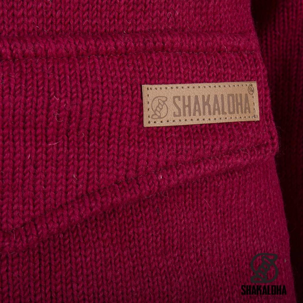 Shakaloha Shakaloha Gebreid Wollen Vest Pager  met Katoenen Voering en Capuchon - Dames - Handgemaakt in Nepal van Schapenwol
