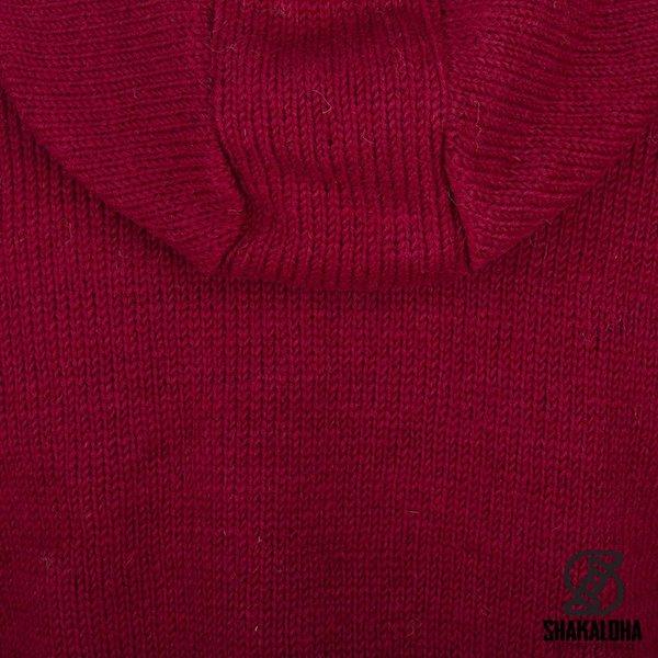 Shakaloha Shakaloha tricoté laine gilet pager avec doublure en coton et capuche - femme - fait à la main au Népal à partir de laine de mouton