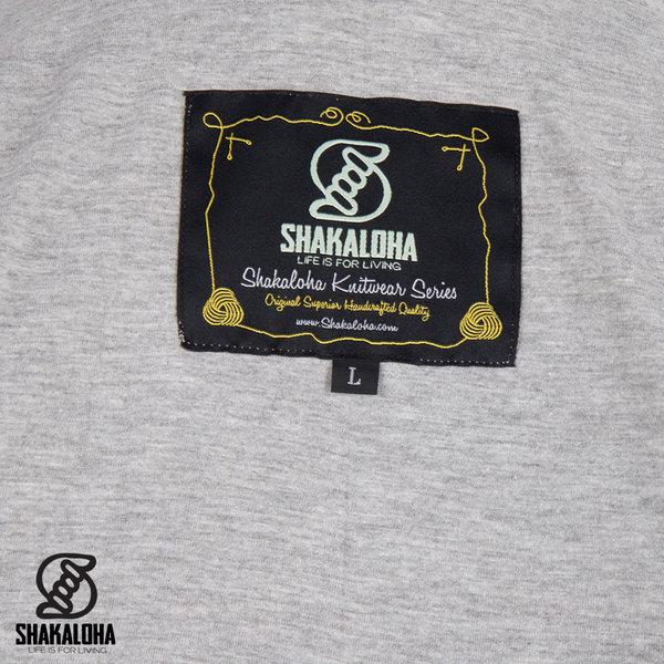 Shakaloha Shakaloha Veste en Laine Tricoté Tictac ZH Gris panaché avec Doublure en coton et Capuche détachable - Femmes - Fabriqué à la main au Népal en laine de mouton