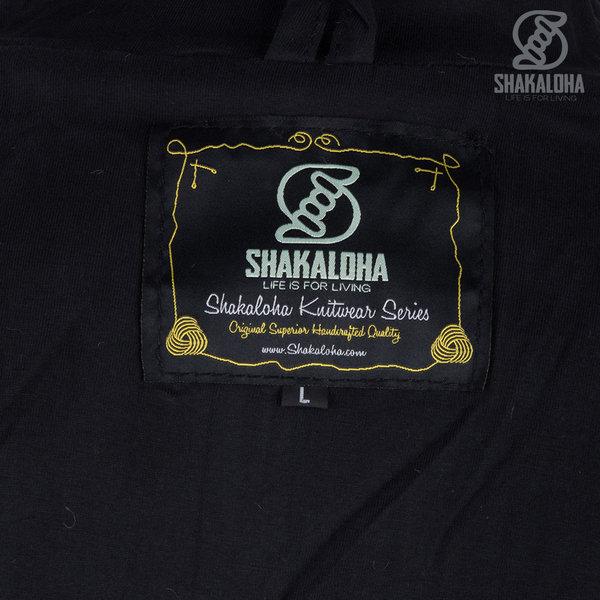 Shakaloha Shakaloha Veste en Laine Tricoté Flyer Collar Anthracite avec Doublure en coton et Col haut - Hommes - Uni - Fabriqué à la main au Népal en laine de mouton