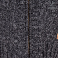 Shakaloha Shakaloha Wolljacke - Strickjacke Brizo ZH Anthrazit mit Fleece-Futter und Kapuze - Damen - Handgemacht in Nepal aus Schafwolle