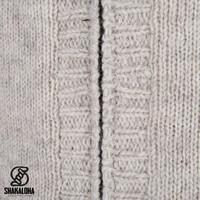 Shakaloha Shakaloha Knitted Woolen Jacket Quantum Beige Cream with Cotton Lining and Hood - Men - Unisex - Handmade in Nepal from sheep's wool