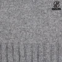 Shakaloha Shakaloha Veste en Laine Tricoté Quantum gris avec Doublure en coton et Capuche - Hommes - Uni - Fabriqué à la main au Népal en laine de mouton