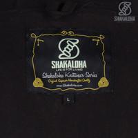 Shakaloha Shakaloha Gebreid Wollen Vest Quantum Antraciet met Katoenen Voering en Capuchon - Man/Uni - Handgemaakt in Nepal van Schapenwol