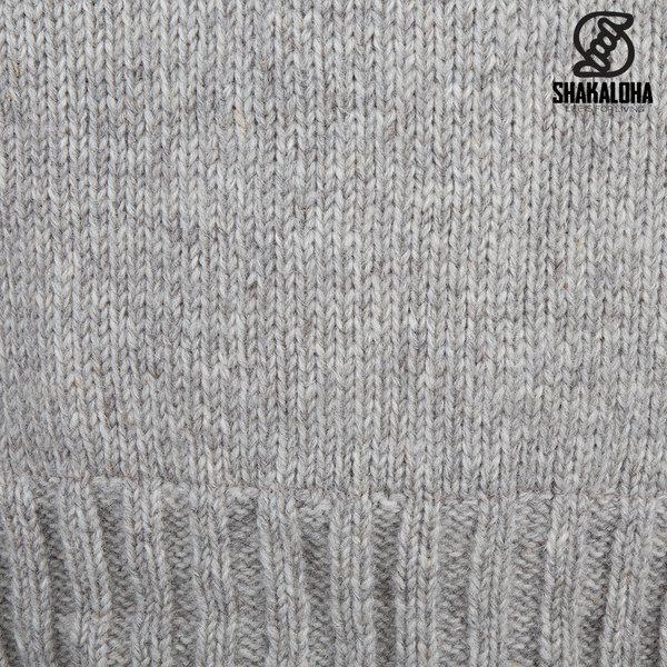 Shakaloha Shakaloha Gebreid Wollen Vest Chamonix Beige Crème met Teddy Fleece Voering en Capuchon - Man/Uni - Handgemaakt in Nepal van Schapenwol