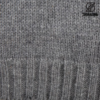 Shakaloha Shakaloha Knitted Woolen Jacket Chamonix Gray with Teddy Lining and Hood - Men - Unisex - Handmade in Nepal from sheep's wool