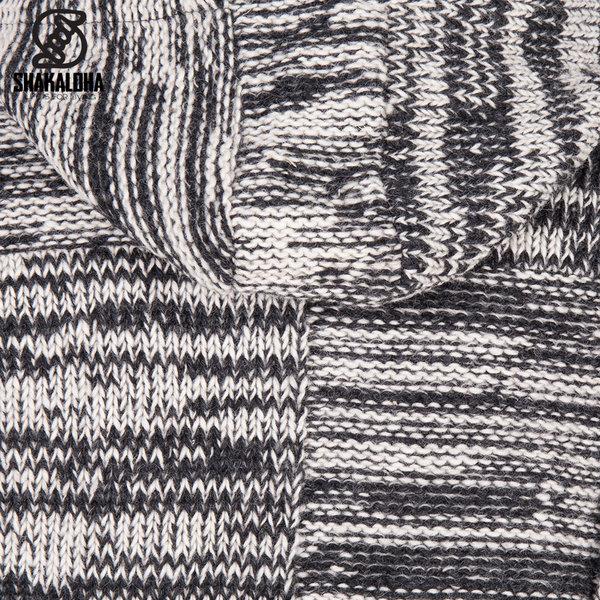 Shakaloha Shakaloha Veste en Laine Tricoté Buster ZH Beige anthracite avec Doublure en polaire et Capuche détachable - Hommes - Uni - Fabriqué à la main au Népal en laine de mouton